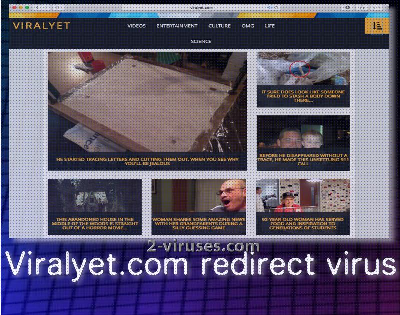Viralyet.com redirect 바이러스